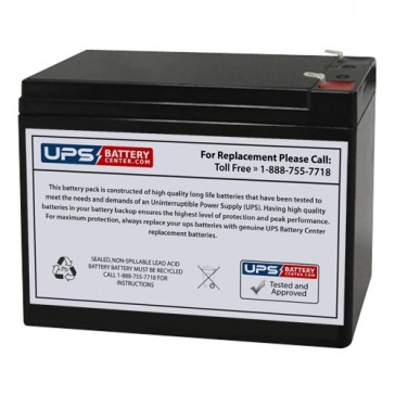 C Power CS12-10 12V 10Ah F2 Battery