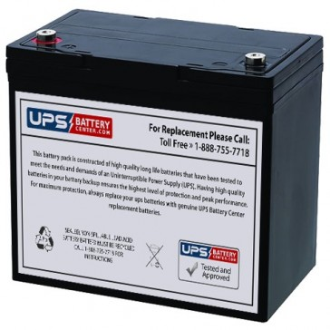 12V 55Ah Lawn Mower Battery