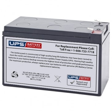 UPSonic UPS 1250 12V 7.2Ah Replacement Battery