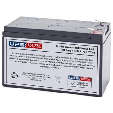 UPSonic CXR 1500 12V 9Ah Replacement Battery