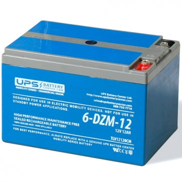 6-DZM-12 12V 12Ah eBike Battery
