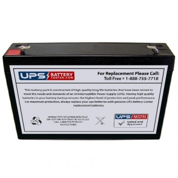 Plus Power PP6-8 F2 6V 8Ah Battery