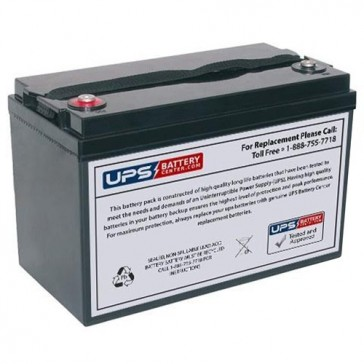 Diamec 12V 100Ah DMU12-100 Battery with M8 Threaded Insert Terminals