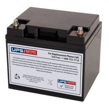 Diamec 12V 40Ah DMU12-40 Battery with F11 Insert Terminals