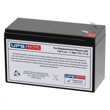 Diamec 12V 7.5Ah DMU12-7.5 Battery with F1 Terminals