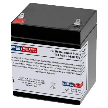 Energy Power 12V 5.2Ah EP-SLA12-5.2 Battery with F1 Terminals