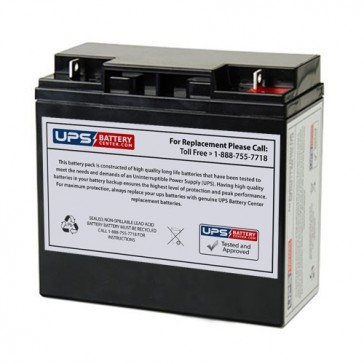 FirstPower FP12200 12V 20Ah Battery with F3 - Nut & Bolt Terminals
