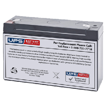 FirstPower 6V 12Ah FP6120 Battery with F1 Terminals