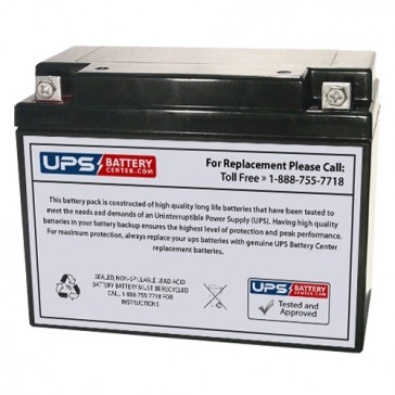 FirstPower 6V 20Ah FP6200 Battery with F3 - Nut & Bolt Terminals