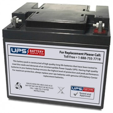 LCB SP45-12 12V 45Ah Battery with F6 - Nut & Bolt Terminals