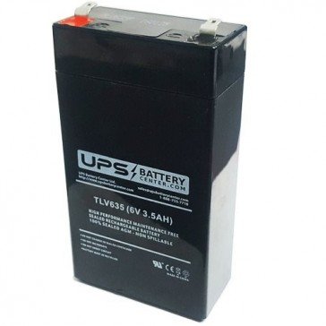 Leoch 6V 3.5Ah DJW6-3.2H Battery with F1 Terminals
