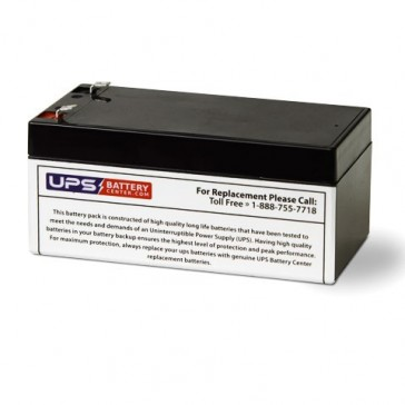 Leoch 12V 3.2Ah LP12-3.2 Battery with F1 Terminals