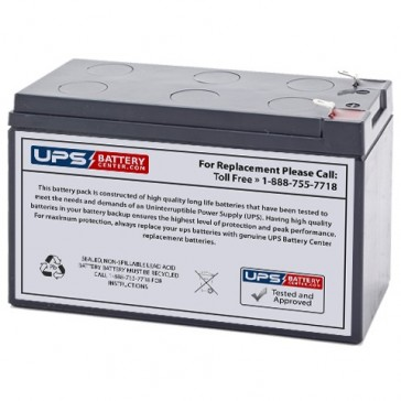 Leoch 12V 7.2Ah LP12-7.2 Battery with F1 Terminals