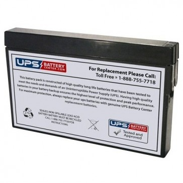 McGaw 521 Plus 1993 Factory Upgrade 12V 2Ah Battery
