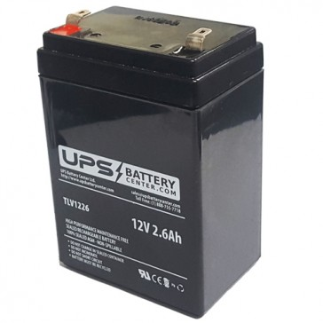 Motoma MS12V2.6H 12V 2.6Ah Battery with F1 Terminals