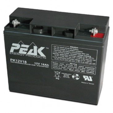 PK12V18B1 Peak Energy 12V 18Ah Battery