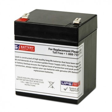 Power-Sonic 12V 5Ah PS-1250 Battery with F2 Terminals
