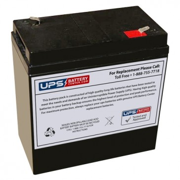 Sunnyway 6V 36Ah SW6360 Battery with F2 Terminals