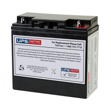 Big Beam H2SC12S15 - Teledyne 12V 18Ah F3 Replacement Battery