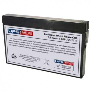 TLV1220M - 12V 2Ah Sealed Lead Acid Battery with Tab Terminals