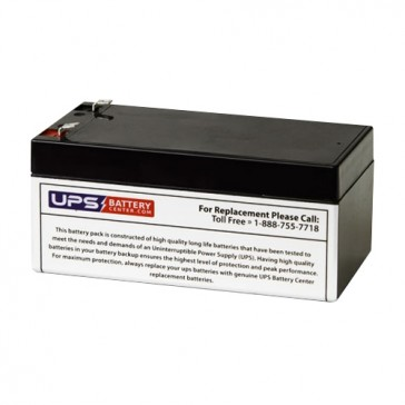 TLV1232F2 - 12V 3.2Ah Sealed Lead Acid Battery with F2 Terminals