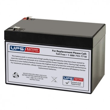 Universal 12V 12Ah UB12120FR Battery with F2 Terminals