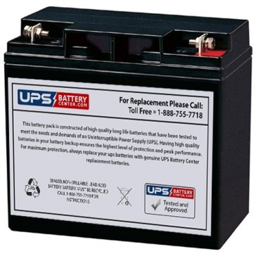 Universal 12V 22Ah UB12220 Battery with F3 - Nut & Bolt Terminals