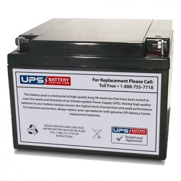 Universal 12V 26Ah UB12260 Battery with F3 - Nut & Bolt Terminals