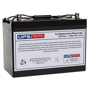 Universal 12V 90Ah UB12900 Battery with Z Post Terminals