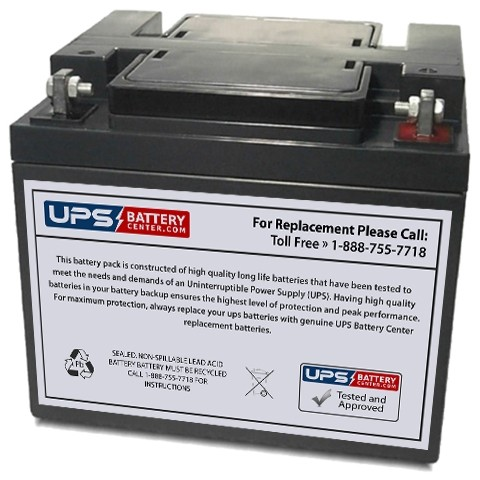 12v 45ah Sealed Lead Acid Battery With F6 Terminals