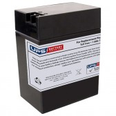 TLV6140T - 6V 14Ah Sealed Lead Acid Battery with +F2 / -F1 Terminals