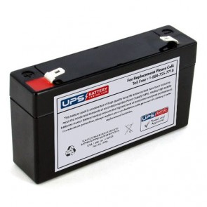 Marquette BP711 EMS Blood Pressure Mon 6V 1.3Ah Battery