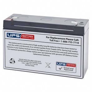 Alexander GB6100 6V 12Ah Battery