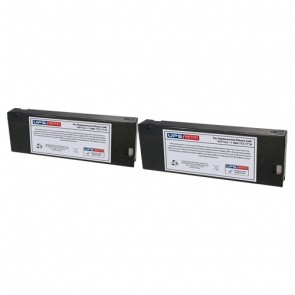 Criticare Systems 8100 Poet Plus Vital Signs Monitor Batteries - Set of 2
