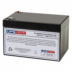 CooPower 12V 12Ah CP12-12 Battery with F2 Terminals