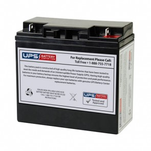 CP12-18 - CooPower 12V 18Ah F3 Replacement Battery