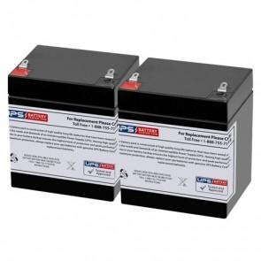 Criticare Systems 8100E 12V 5Ah Medical Batteries with F1 Teminals