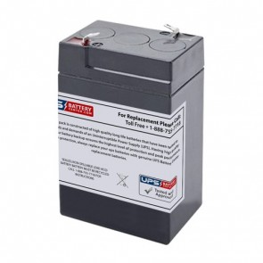CSB 6V 4.5Ah CP640 Battery with F1 Terminals