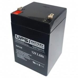 Gaston GT12-2.8 12V 2.8Ah Battery with F1 Terminals