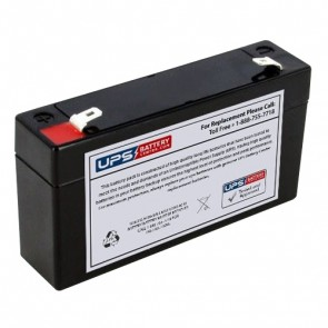 IBT 6V 1.3Ah BT1.3-6 Battery with F1 Terminals