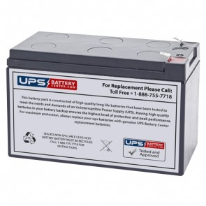 LCB 12V 7.2Ah UP1253W Battery with F1 Terminals