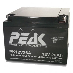 PK12V26AB1 Peak Energy 12V 26Ah Battery