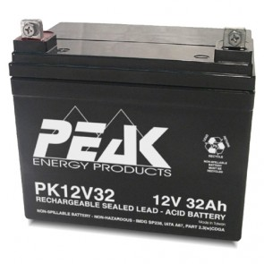 PK12V32 Peak Energy 12V 32Ah Battery