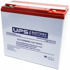 Power-Sonic 12V 21Ah PS-12200HD-M6 Battery with M6 Insert Terminals