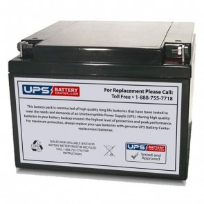 Power-Sonic 12V 26Ah PS-12260 Battery with NB - Nut & Bolt Terminals