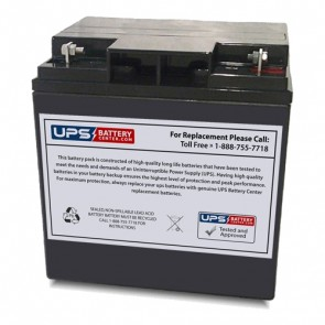 Taico 12V 24Ah TP12-24 Battery with Bolt and Nut Type Terminals