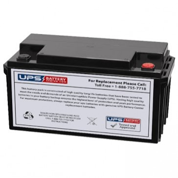 Plus Power PP12-65 F11 Insert Terminals 12V 65Ah Battery