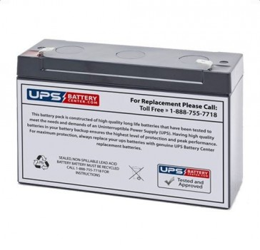 Pace Tech Vitalmax Systems IV Battery