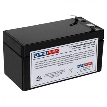 CBB 12V 1.3Ah NP1.3-12 Battery with F1 Terminals