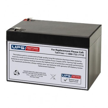 Cellpower 12V 12Ah CPW 80-12 Battery with F2 Terminals